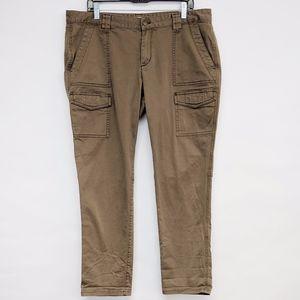 LOFT Pants - loft | tan khaki julie fit cargo skinny pants 14